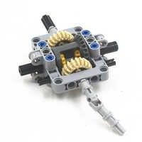 Moc técnica 29 pces jogo diferencial caixa de engrenagens (engrenagens, pinos, eixos, conectores) pacote compatível com lego moctsma29
