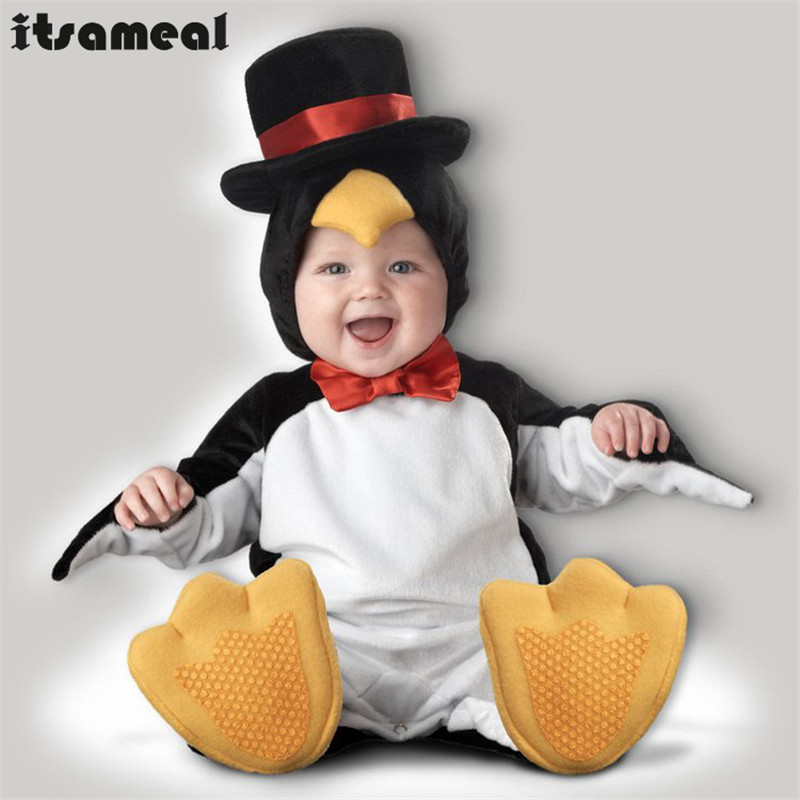 Baby Boy Toddler  penguin Movie Character Cosplay Fancy Dress Halloween Party Carnival Costumes