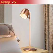 GETOP Nordic Led Table Lamp Macaron Desk lamp Modern Bedroom Reading Light Office Study lamp Creative Home lighting fixture(China)