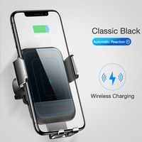 Car Wireless Charger Intelligent Automatic Sensor Fast Wireless Charging Car Air Vent Mount Phone Holder Bracket