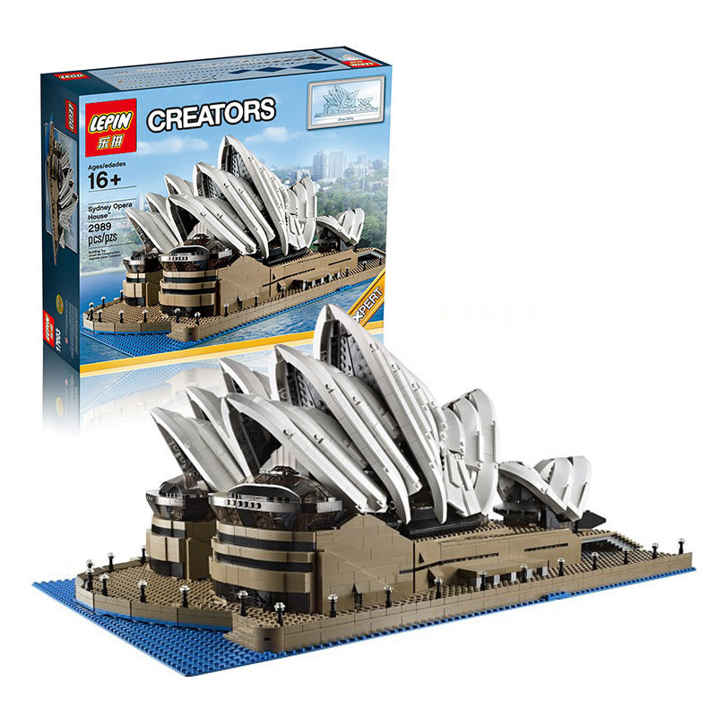 LEPIN 17003 2989Pcs Creator Sydney Opera House Model Building Kits Blocks Bricks Toys Compatible kehlani sydney