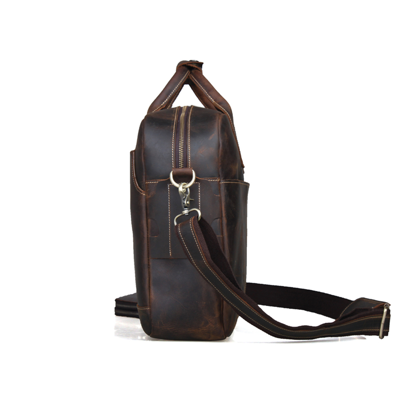 vintage bolsa do homensageiro bolsa Material Principal : Couro Genuíno