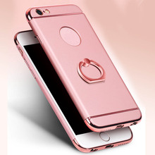 ФОТО ultra thin shockproof hybrid rubber tpu case cover for apple iphone 7 7 plus 6 6s plus with finger ring holder