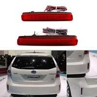 2PCS LED Rear Bumper Reflector Tail Brake Light For TOYOTA NOAH VOXY 80 For Pruis 40 Series 2011 2012 2013 2014 2015 Stop Lamp