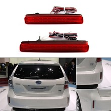 High Quality 2PCS LED Rear Bumper Reflector Tail Brake Light Fog Lamp For TOYOTA NOAH VOXY 80 and Pruis 40 series 2011-2015
