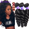 Malaysian Virgin Hair Loose Wave 4 bundles Human Hair Extensions Malaysian Loose Wave Virgin Hair 7A Unprocessed Virgin Hair