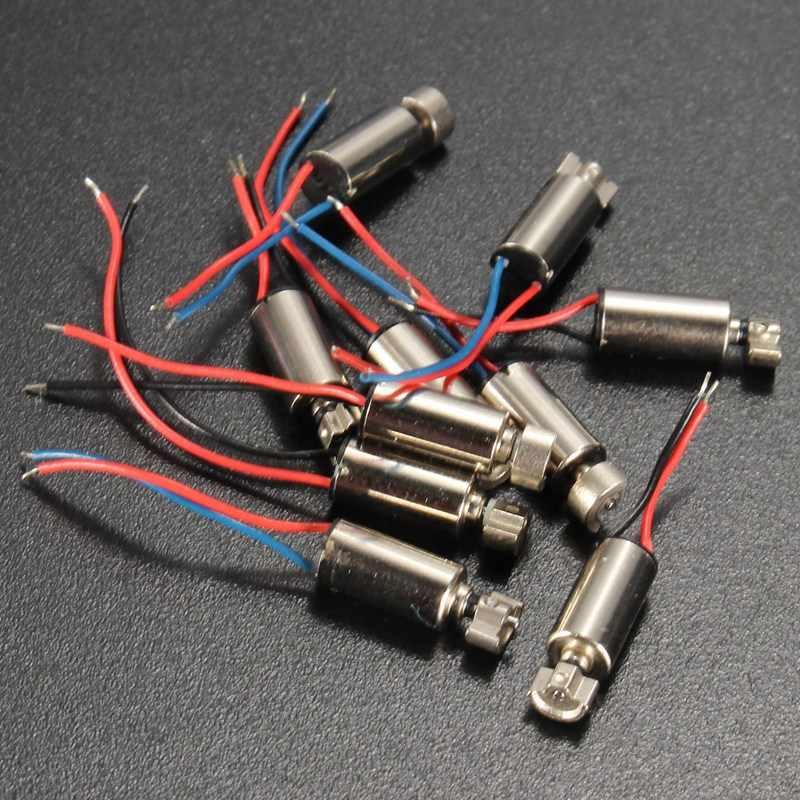 WOLIKE 10 pièces DC Micro Vibration moteur téléphone portable sans noyau vibrateur pour SANYO 10x4x8mm 1.5-3V moteurs et pièces