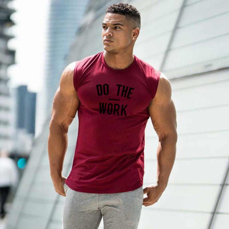 Muscleguy Merek Gym Pakaian Olahraga Baju Tanpa Lengan Tank Top Pria Binaraga Kebugaran Pakaian Olah Raga Pria Otot Rompi Pria Tanktop