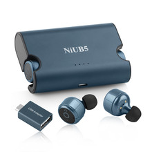 NiUB5 Super Bluetooth Earphone 7*6 Hours Play Time HiFi Mini In Ear Earbuds with Microphone Noise Cancelling Headset for Phone
