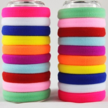 50pcs/lot Girl Candy Color Rubber band Fashion high elastic hair rope ties headband gum girl Hair accessory
