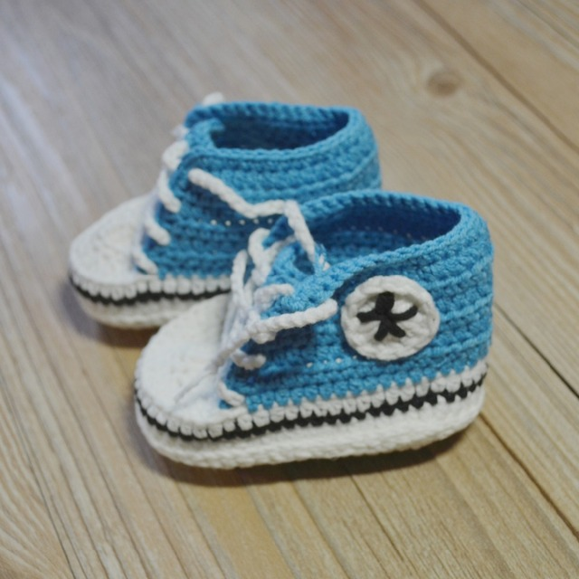 e92a453aff2ff US $4.8  QYFLYXUE Crochet baby shoes,handmade Baby Crochet Booties,Baby  sports shoes select size:9cm 10cm 11cm Free shipping-in First Walkers from  ...