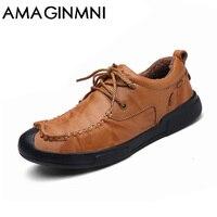 AMAGINMNI Brand 2018 New Style Casual Shoes Men Short Plush Keep Warm Winter Men Outdoor Leisure