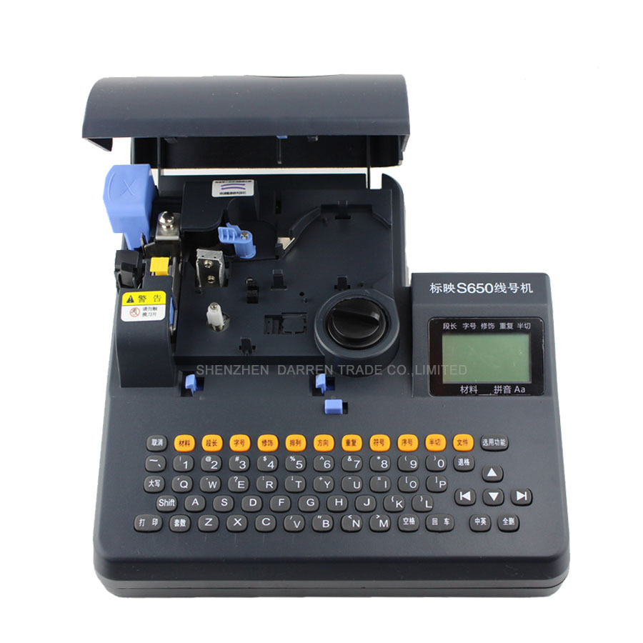 PVC Tube Printer S-650 Shrinkable Tube Electronic Lettering Machine Shrinkable Cable ID Printer Wire Marking Machine best price allwin printer 14pin pci 4meter high density cable cable signal wire for human gongzheng digital printer