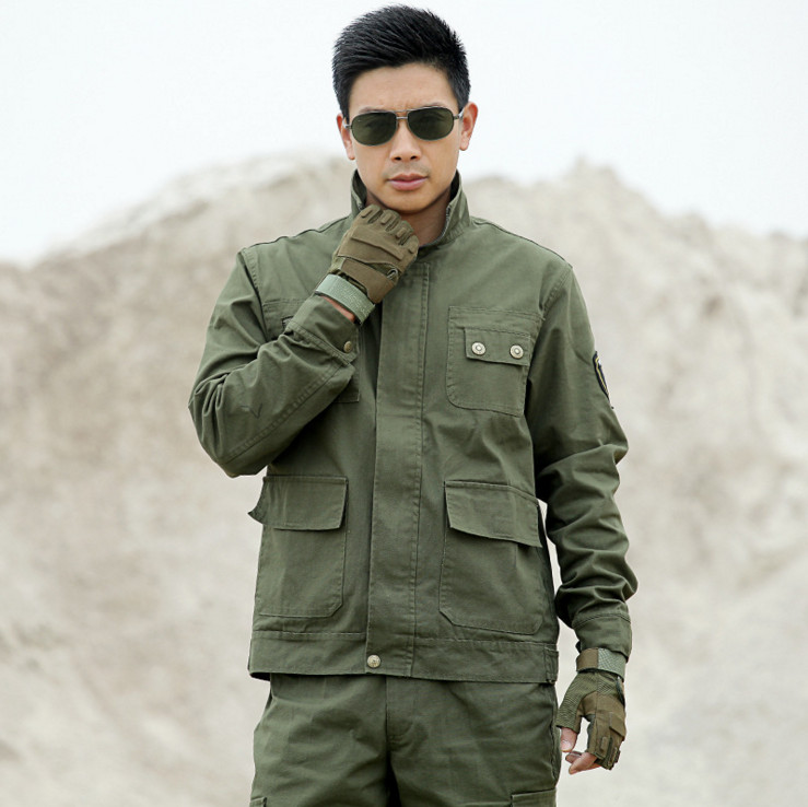 2018 New Arrival Military Tactical Uniform Suits Multi-pocket Embroidery Equipment Clothing Army Green Working Sets
