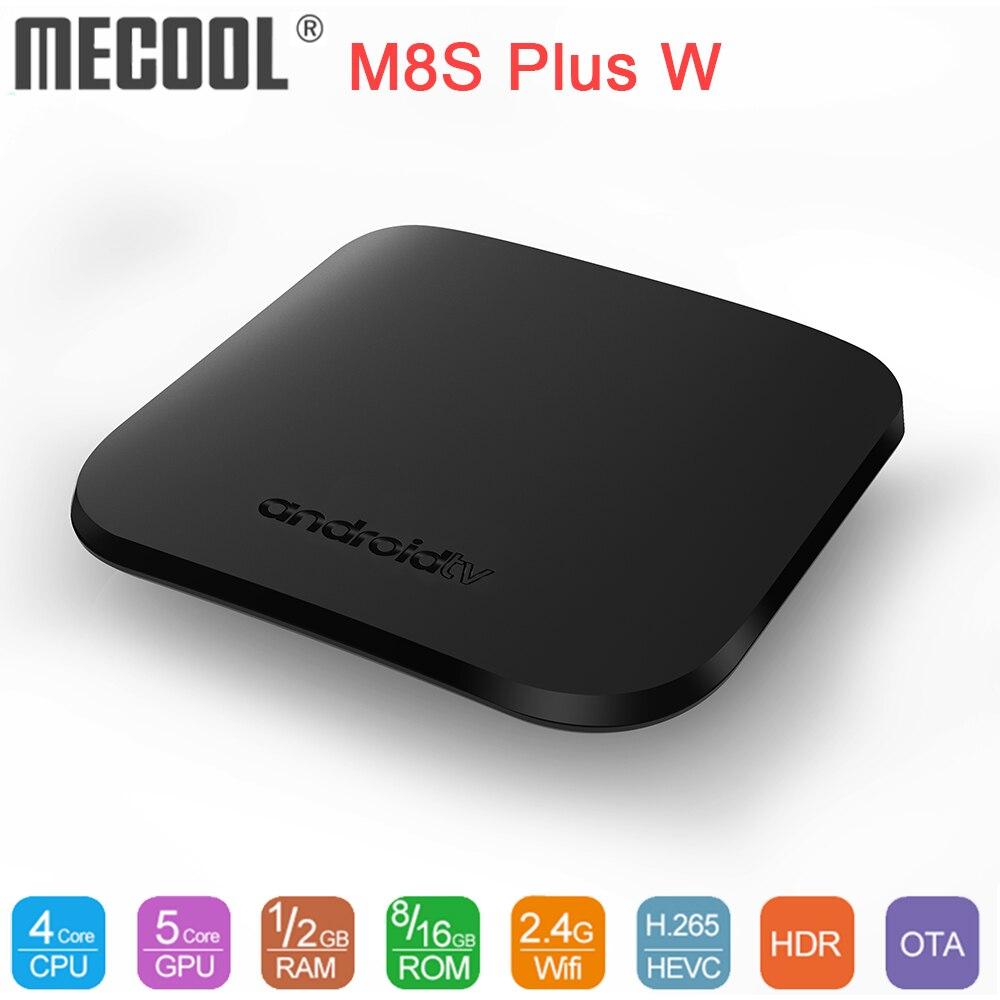 MECOOL M8S Plus W Andriod TV Box Amlogic S905W Quad Core TV Box 1GB DDR3 8GB Android 7.1 4K Smart Media Player Set Top Box