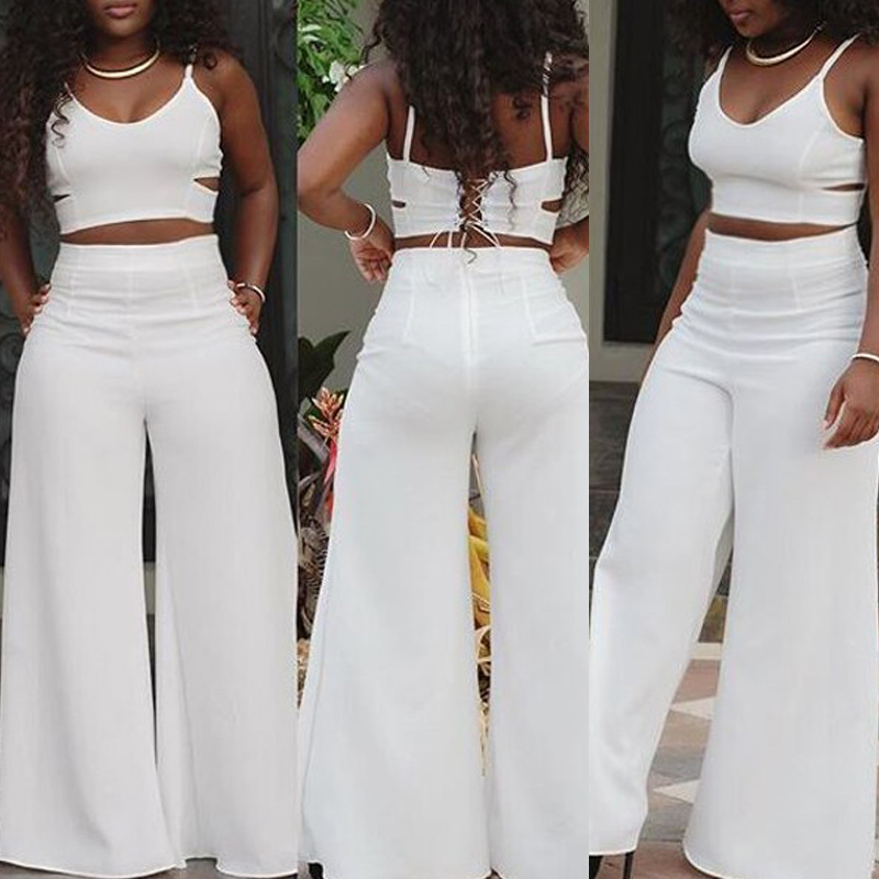 Plus Size Women Clothing S XL Fashion White Jumpsuit For ...
