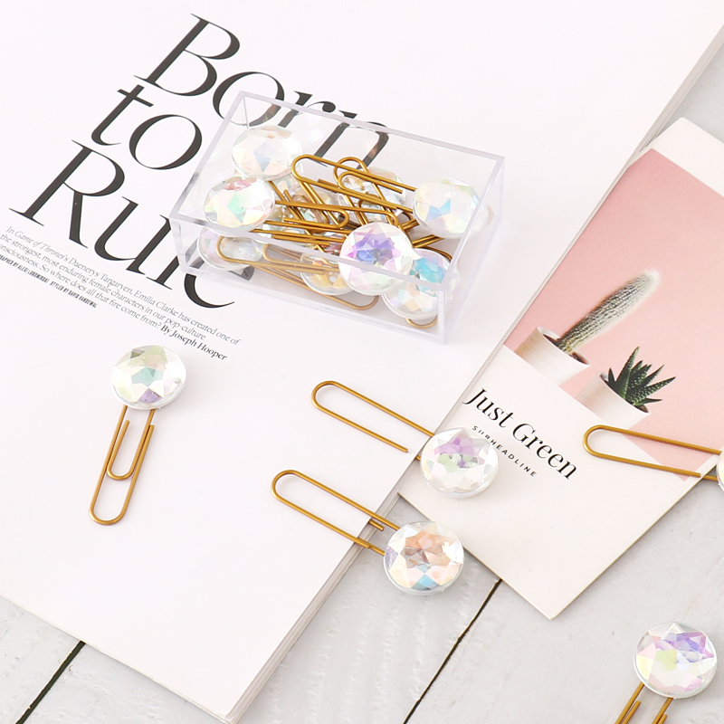 TUTU 10pcs/box Original Creative Cute School Metal Paper Clips Stationery Kawaii Student Index Bookmark For Diary H0303