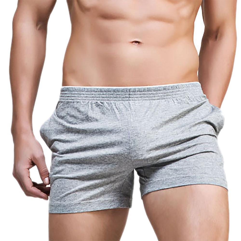 Underwear Men Casual Home Sleep Bottoms Cotton Shorts Family Comfortable Loose Mens Long Boxers Satin Lounge Male Man Panties