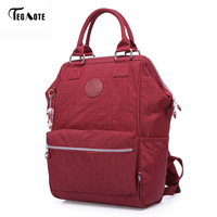 TEGAOTE Nylon Backpack Students School Bag For Teenage Girls Boys Backpacks Street Fashion Rucksack Laptop Bagpack