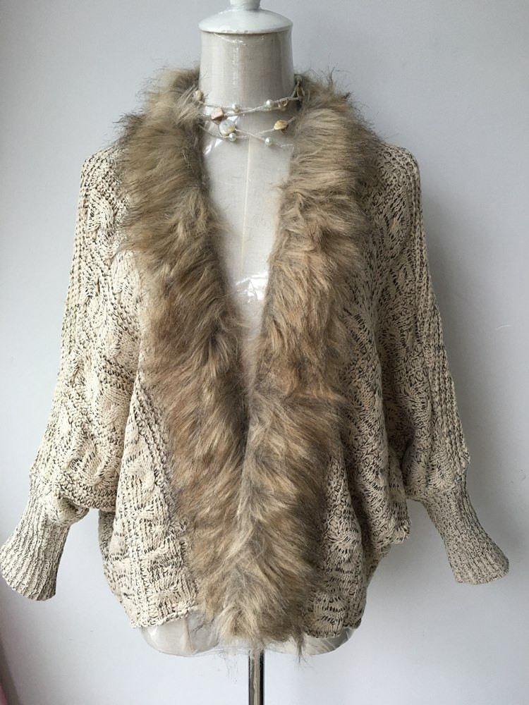 lady spring autumn sweater with fur (4)