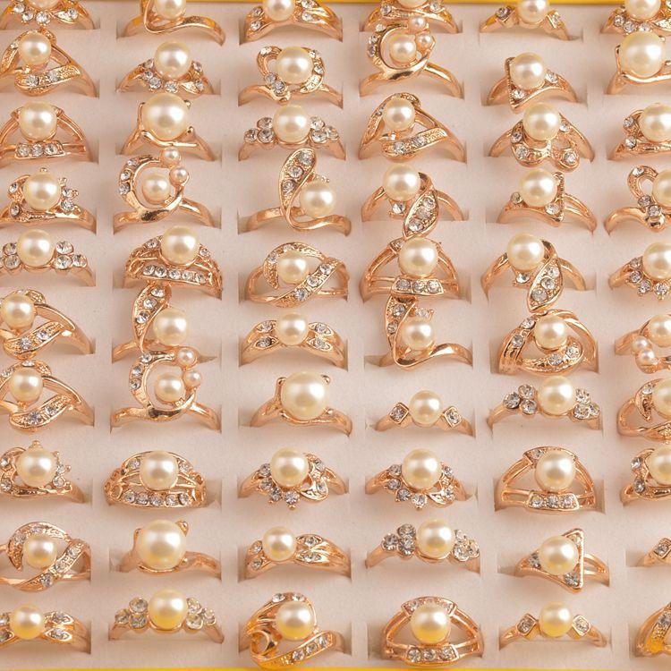 Купить mydaner оптовая продажа много смешанных 50 шт женские кольца