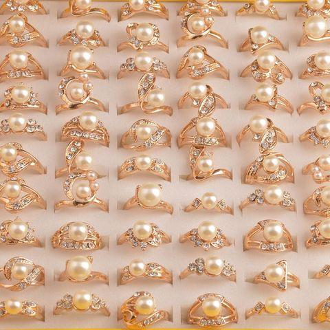 Mydaner оптовая продажа много смешанных 50 шт женские кольца