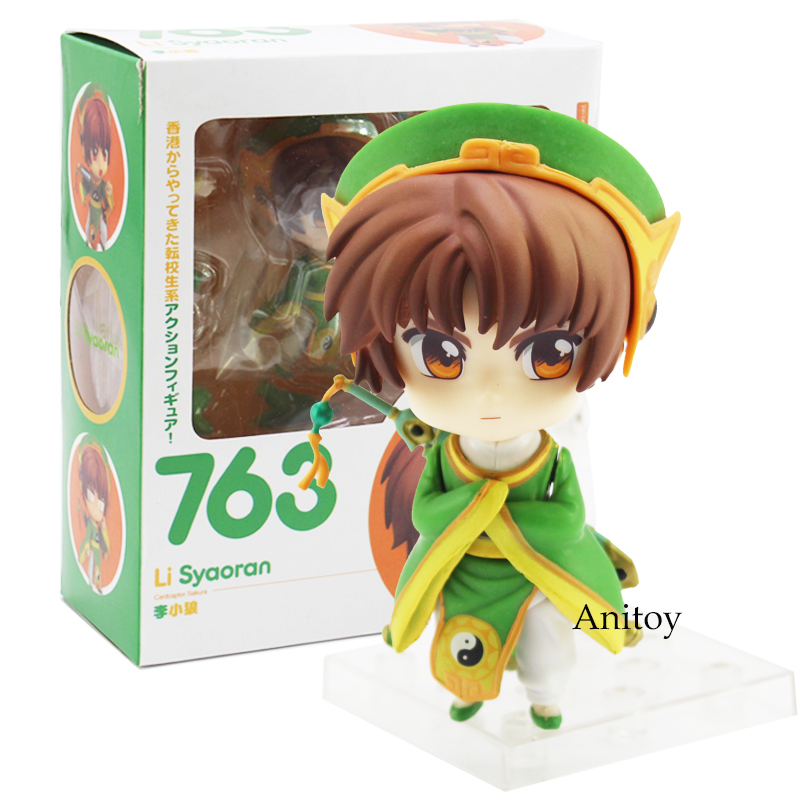 Anime Cartoon Card Captor Sakura Li Syaoran Nendoroids Doll 763 PVC Figure Collectible Model Toy 10cm 23cm japanese anime figure cardcaptor sakura li syaoran action figure doll 1 7 scale pvc painted figure model toy