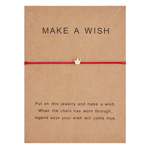 Регулируемый браслет с бумажными карточками в форме бабочки, звезды, короны, Круглый тканый браслет ручной работы, Простые Модные женские ювелирные изделия, подарки - Окраска металла: 7