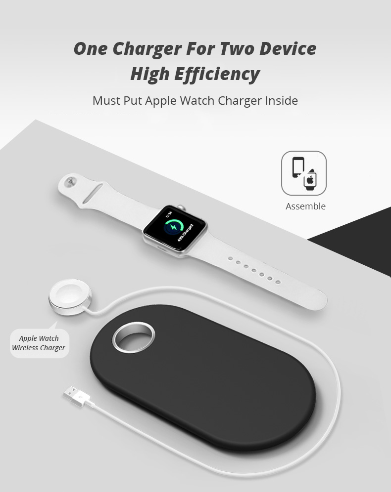 2 in 1 Wireless Charge Pad For Iphone X Iphone 8 Samsung S9 Samsung S8 DIY Disassemble Apple Watch wireless Charge Pads (3)