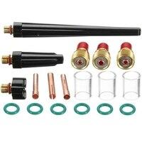 18Pcs Tig Torcia di Saldatura a Gas Tozzo Obiettivo di Vetro Ugello Tazza Kit per Wp 9/20/25 Tig Torcia accessori per Saldatura-in Attrezzatura per saldatura a gas da Attrezzi su
