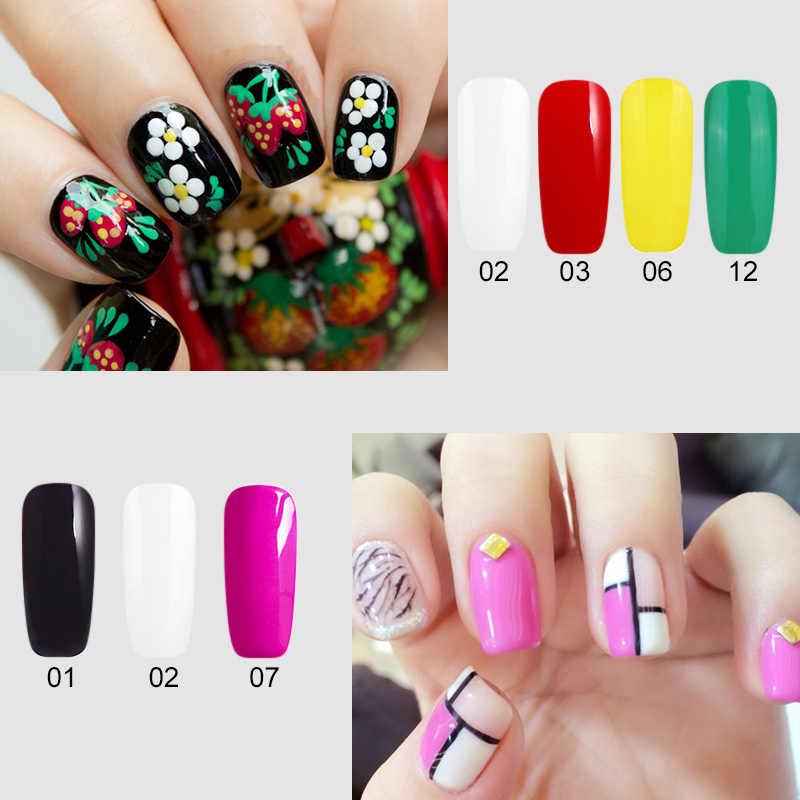 Professionnel 12 couleurs pures UV Gel vernis à ongles ensemble Art des ongles coloré vernis à ongles longue durée peinture ongles Gule Bio Gel