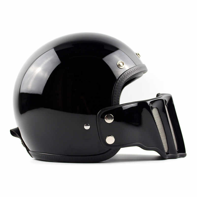 4897aee9 ... tt&co open face vintage motorcycle helmet scooter retro moto helmets  with detachable mouth harley cruise style