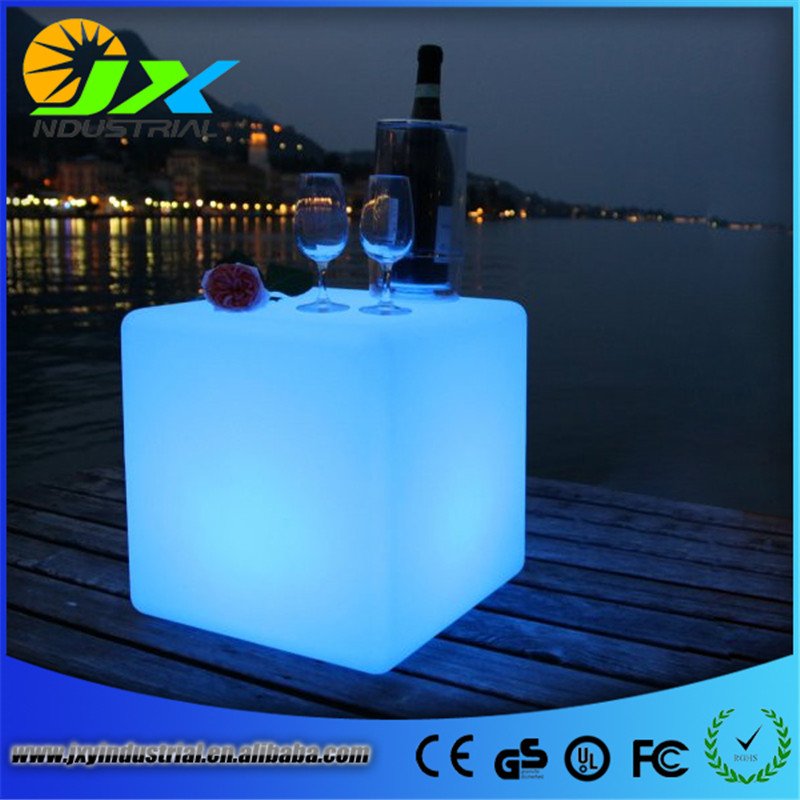 ФОТО LED furniture chair seat more than 220kg colours change remote control wonderful Glowing Cube