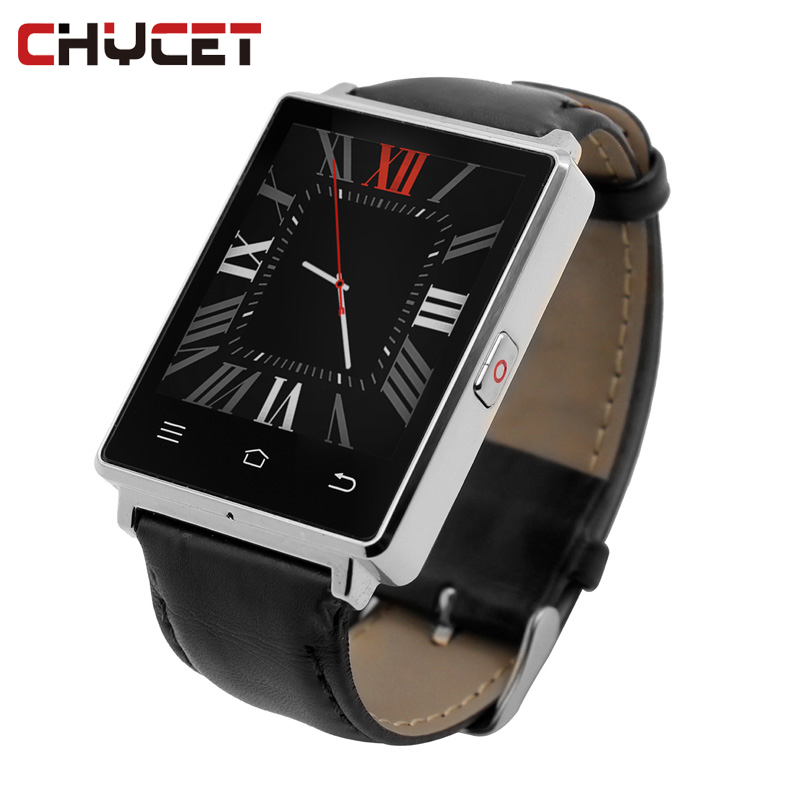 Chycet Smart Watch Android D6 1GB RAM 8GB ROM MTK6580 1.63 Inch Support Wifi GPS Heart Rate Monitor Fitness SmartWatch crcular shape no 1 d5 android 4 4 bluetooth gps smart watch with heart rate monitor google play gps 4g rom 512m ram smartwatch