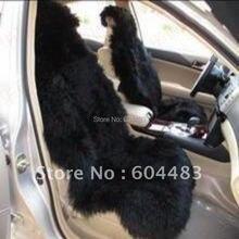 1 комплект = 5 шт. Сшивные накидки на сиденья автомобиля из овчины с длинными ворсами/авточехлы черный