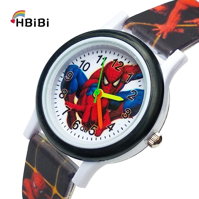 Children Watch Bracelet Spiderman Boys Clock Gifts Waterproof Kids Fashion Analog Printed-Strap