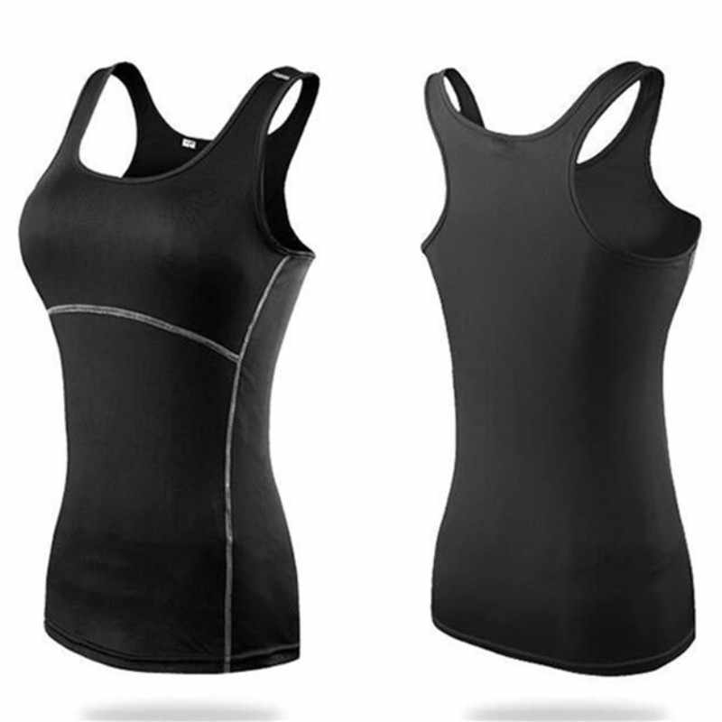Women Sexy Yoga Tops Gym Sportswear Vest Fitness tight woman clothing Sleeveless Running shirt Quick Dry White Yoga Tank Top