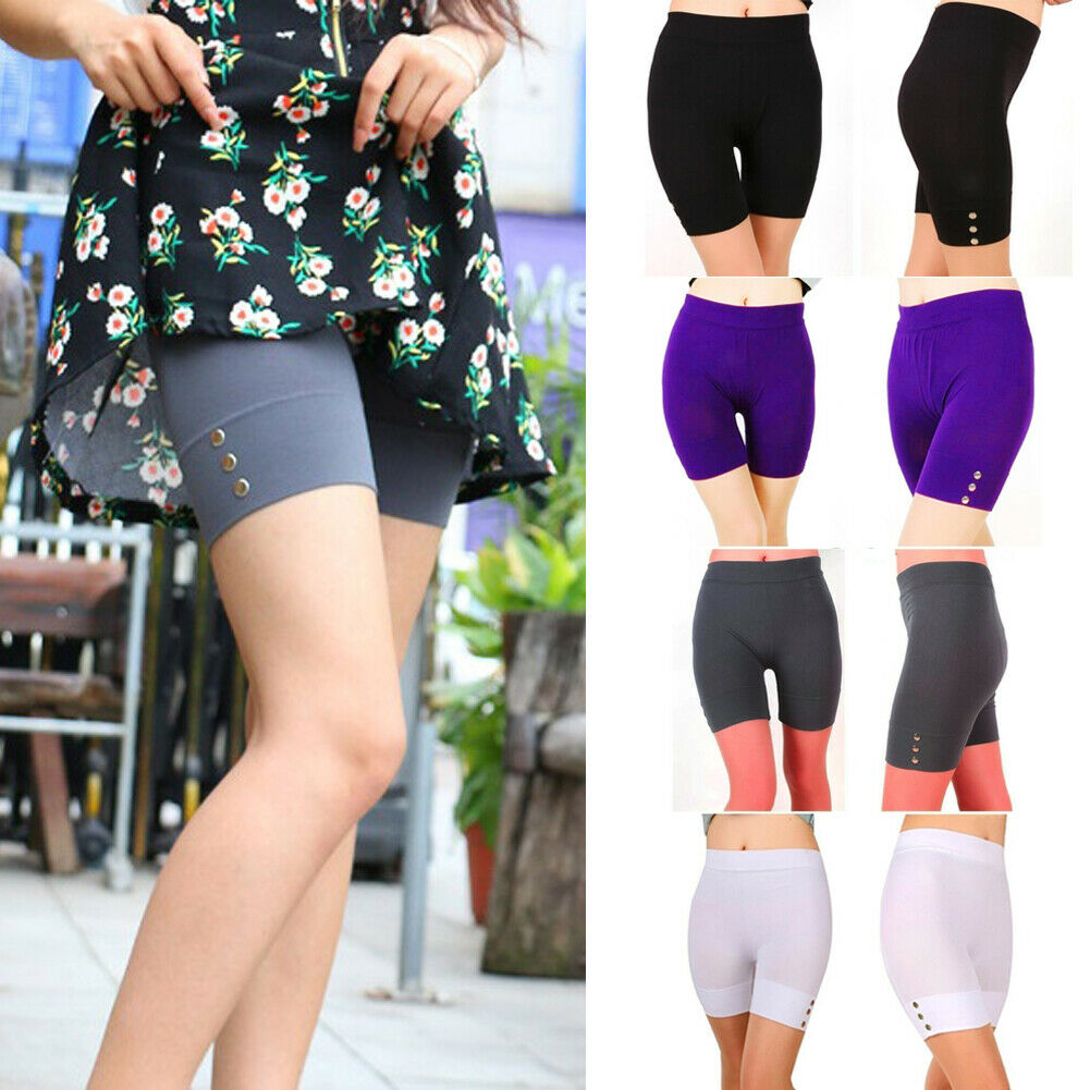 New Womens Summer Cropped 1/2 Leggings Active Stretchy Shorts Safety Trousers Leggings Active Stretchy Shorts Safety Trousers