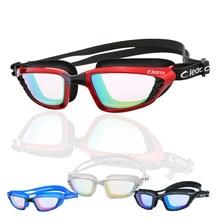 bfba6d657d88 Silica Gel Large Frame Colorful Plating Anti-fog Swim Goggles Anti-UV Glass  Men s Women s Scratch-proof Lens Adjustable Eyewear