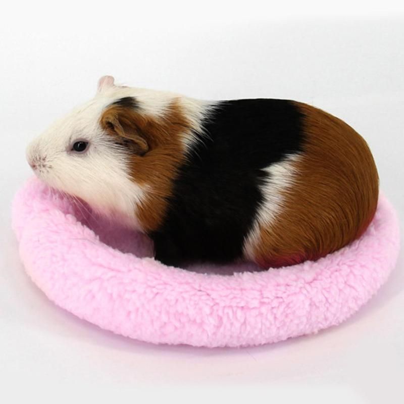 Guinea Pig Hamster House Mat Cute Animal Rabbit Squirrel Hamster Bed Washable Winter Warm Soft Guinea Pig Accessories