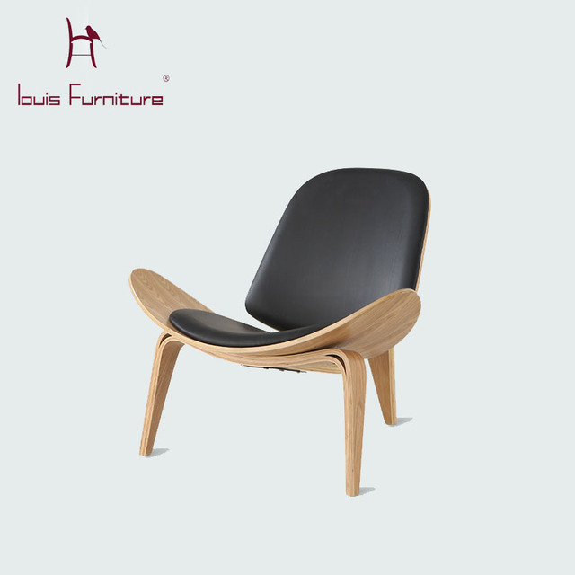 Custom Made Solid Wood Chairs, Nordic Creative Leisure Solid Wood Furniture