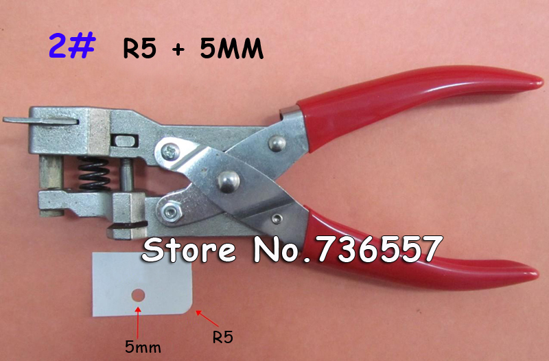 Manual R5 and 5MM Round Hole ID Business Criedit PVC Paper Card Corner Rounder Punch Perforating Cutter Pliers