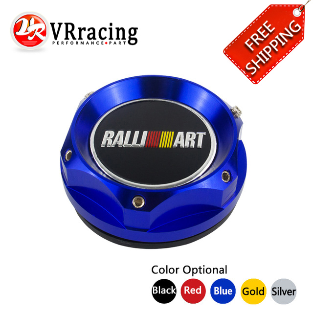 VRracing Store VR RACING - FREE SHIPPING GOLD/BLACK/SILVER/RED OIL FILTER CAP For MITSUBISHI RALLIART BILLET  ENGINE OIL CAP NEW VR6315