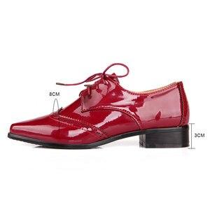 Image 2 - Fanyuan 2019 אביב נשים אוקספורד נעלי ניטראלי מחודדת מוצק צבע תפירת דירות מבוגרים משרד ליידי בטיחות עבודה נעליים