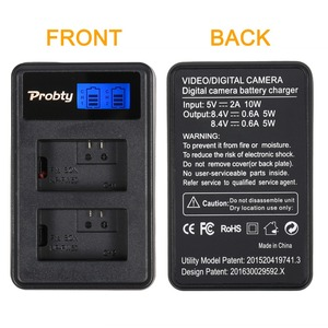 Image 2 - NP FW50 cargador de batería Digital NPFW50 pantalla LCD, cargador de doble canal para sony a7II a6000 a7RII a6300 a5100 a7s a7 a7R a7sII
