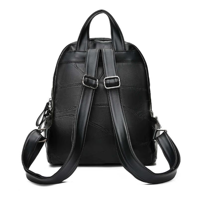 LYKANEFU модная Лоскутная сумка из овечьей кожи женский рюкзак из натуральной кожи рюкзаки для подростков женская кожаная сумка школьная книга