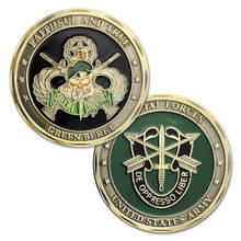 US Army Special Forces Challenge Coin Faithful And True Green Beret 50pcs/lot DHL free shipping