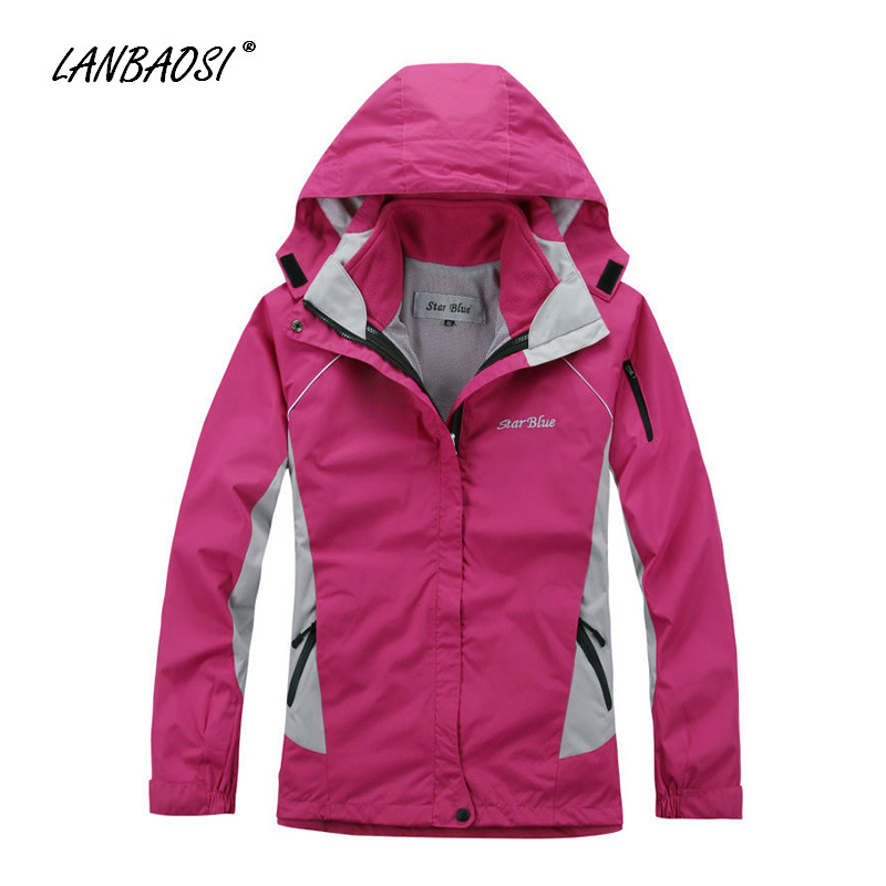 Womens Skiing Jacket Waterproof Windproof 2 in 1 Fleece Thermal Liner Warm Coat Clothes for Outdoor Sports Hiking Snowboarding nianjeep brand outdoor jacket waterproof sports men windproof climbing hiking clothes skiing jacket winter jacket 3 in 1 j014