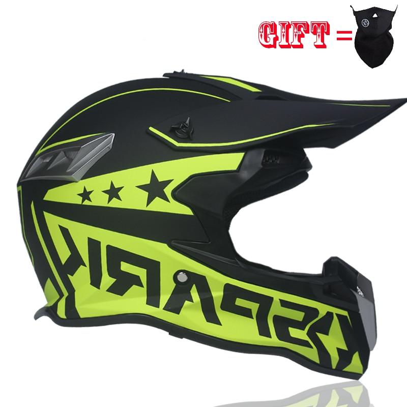 Le plus professionnel motocross casque Approuvé DOT Plein Visage SUV Vtt de Descente DH Glisser Barre Croix casque capacetes