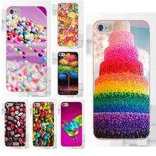 Omdnwd Bumper Rainbow Candy For Sony Xperia Z Z1 Z2 Z3 Z4 Z5 compact Mini Premium M2 M4 M5 T3 E3 E5 XA Soft Shell Phone Case(China)